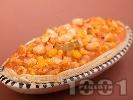 Рецепта Печен боб с царевица на фурна в бутер тесто